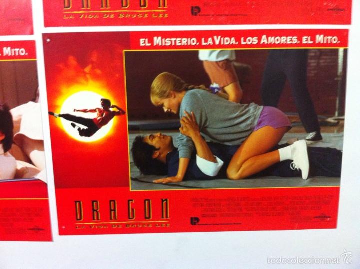 Cine: Lote 7 fotocromos DRAGON LA VIDA DE BRUCE LEE lobby cards - Foto 7 - 55376699
