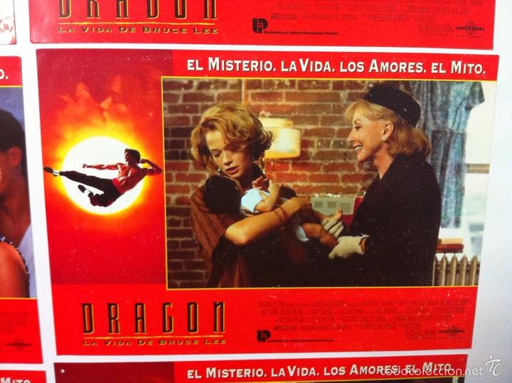 Cine: Lote 7 fotocromos DRAGON LA VIDA DE BRUCE LEE lobby cards - Foto 8 - 55376699