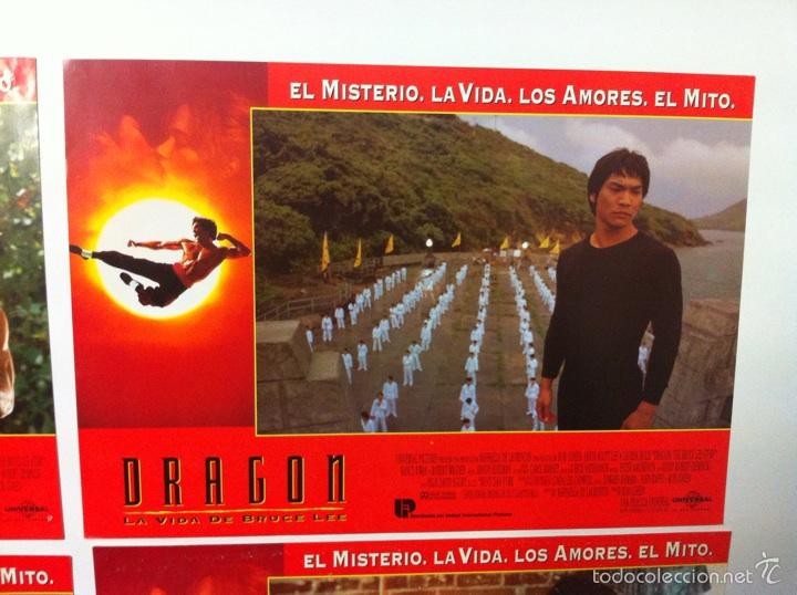 Cine: Lote 7 fotocromos DRAGON LA VIDA DE BRUCE LEE lobby cards - Foto 9 - 55376699