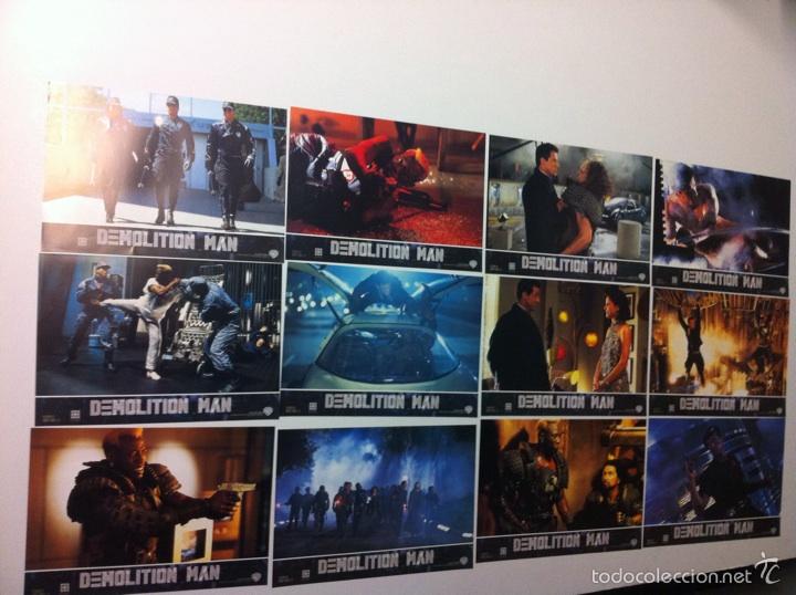 LOTE COMPLETO 12 FOTOCROMOS DEMOLITION MAN LOBBY CARDS (Cine - Fotos, Fotocromos y Postales de Películas)