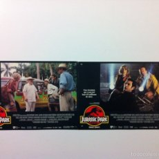 Cine: LOTE 2 FOTOCROMOS JURASSIC PARK LOBBY CARDS. Lote 151661724