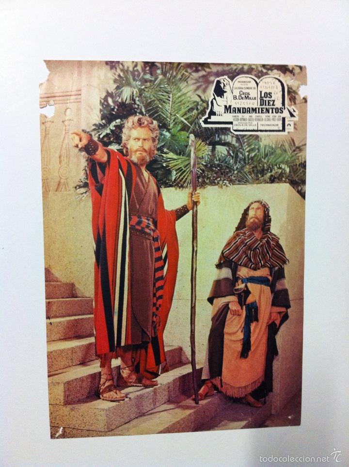 Cine: Lote 2 fotocromos LOS DIEZ MANDAMIENTOS lobby cards - Foto 3 - 55380307