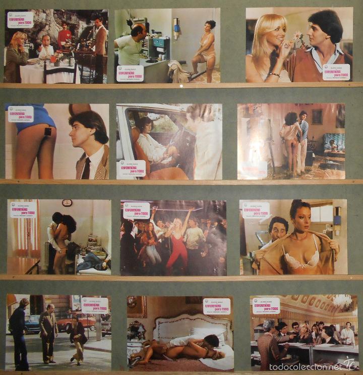 G6351 Enfermera Para Todo Gloria Guida Desnuda Set Completo 12 Fotocromos Original Estreno