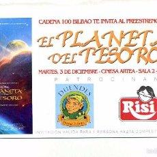 Cine: EL PLANETA DEL TESORO.. Lote 218343181