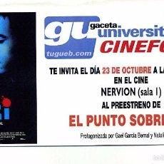 Cine: EL PUNTO SOBRE LA Í, CON NATALIA VERBEKE.. Lote 118425154