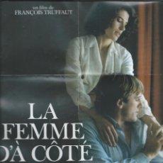 Cine: 8740- MINI CARTEL DEL FILM: LA MUJER DE AL LADO-DE F.TRUFFAUT. Lote 55852665