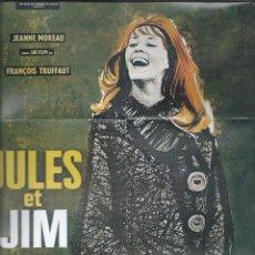 Cine: 8744- MINI CARTEL DEL FILM: JULES Y JIM-DE F.TRUFFAUT. Lote 55855092
