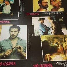 Cine: 48 HORAS JUEGO COMPLETO DE 12 FOTOCROMOS ORIGINALES LOBBY CARDS. Lote 55883683