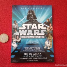 Cine: PRECIOSA POSTAL POSTCARD DE CINE WORLD PREMIERE STAR WARS A MUSICAL JOURNEY THE 02 ARENA VER FOTO/S . Lote 55927585