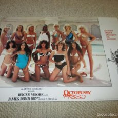 Cine: OCTOPUSSY, JAMES BOND 007, ROGER MOORE, 11 FOTOCROMOS, LOBBY CARDS. Lote 56005586