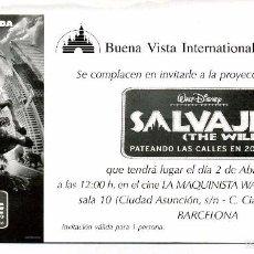 Cine: SALVAJE. DIBUJOS ANIMADOS.. Lote 218343393
