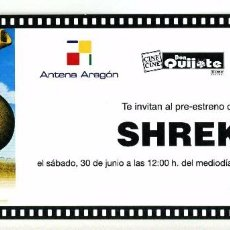Cine: SHREK. DIBUJOS ANIMADOS.. Lote 227777970