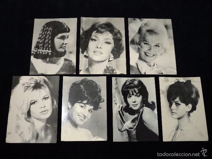 LOTE DE 7 FOTO FICHA OBSEQUIO DE LA REVISTA ROMÁNTICA. ACTRICES. AÑOS 60 (Cine - Fotos y Postales de Actores y Actrices)