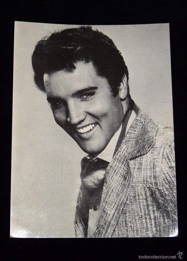 ELVIS ARON PRESLEY. FICHA OBSEQUIO DE LA REVISTA ROMÁNTICA. AÑOS 60 (Cine - Fotos y Postales de Actores y Actrices)