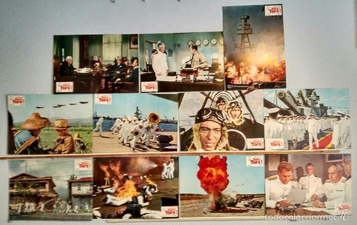 11 FOTOCROMOS ORIGINALES - TORA TORA TORA - CINE BELICO (Cine - Fotos, Fotocromos y Postales de Películas)