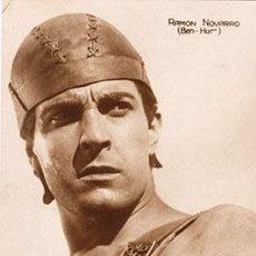 Cine: ACTORES DE CINE, ACTOR RAMON NOVARRO EN LA PELICULA BEN-HUR, TAMAÑO POSTAL. Lote 56854799