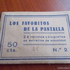 Cine: CUADERNILLO LOS FAVORITOS DE LA PANTALLA Nº 2. Lote 56939774
