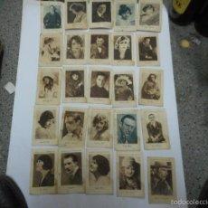 Cine: LOTE 43 CROMOS FOTOGRAFIAS DE LA COLECCION CELEBRES ARTISTAS CINEMATOGRAFICOS JUNCOSA. Lote 56972458