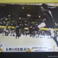 Cine: EL PROFETA DEL GOL JOHAN CRUYFF STORY FUTBOL FOTOCROMO ORIGINAL EN CARTON DURO COLOREADO. Lote 57057710