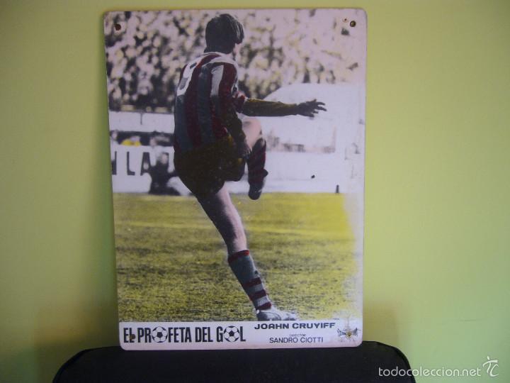 EL PROFETA DEL GOL JOHAN CRUYFF STORY FUTBOL FOTOCROMO ORIGINAL EN CARTON DURO COLOREADO (Cine - Fotos, Fotocromos y Postales de Películas)
