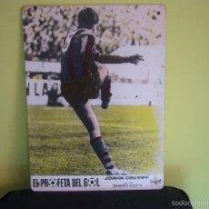 Cine: EL PROFETA DEL GOL JOHAN CRUYFF STORY FUTBOL FOTOCROMO ORIGINAL EN CARTON DURO COLOREADO. Lote 57085095