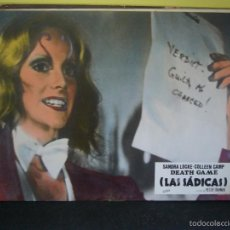 Cine: LAS SADICAS DEATH GAME SONDRA LOCKE FOTOCROMO ORIGINAL EN CARTON DURO B11. Lote 57207913