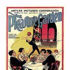 Cine: AFFICHE DU FILM - THE PLEASURE GARDEN (1925) - ALFRED HITCHCOCK - POSTCARD RP (51) - SIZE: 15X10 CM.. Lote 118363922