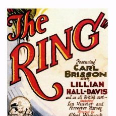Cine: AFFICHE DU FILM - THE RING (1927) - ALFRED HITCHCOCK - POSTCARD RP (55) - SIZE: 15X10 CM. APROX.. Lote 118363894