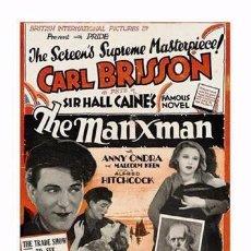 Cine: AFFICHE DU FILM - THE MANXMAN (1929) - ALFRED HITCHCOCK - POSTCARD RP (58) - SIZE: 15X10 CM. APROX.. Lote 118363875