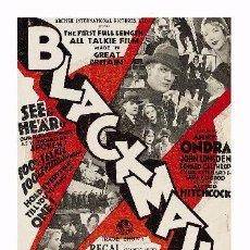 Cine: AFFICHE DU FILM - BLACKMAIL (1929) - ALFRED HITCHCOCK - POSTCARD RP (59) - SIZE: 15X10 CM. APROX.. Lote 118363851