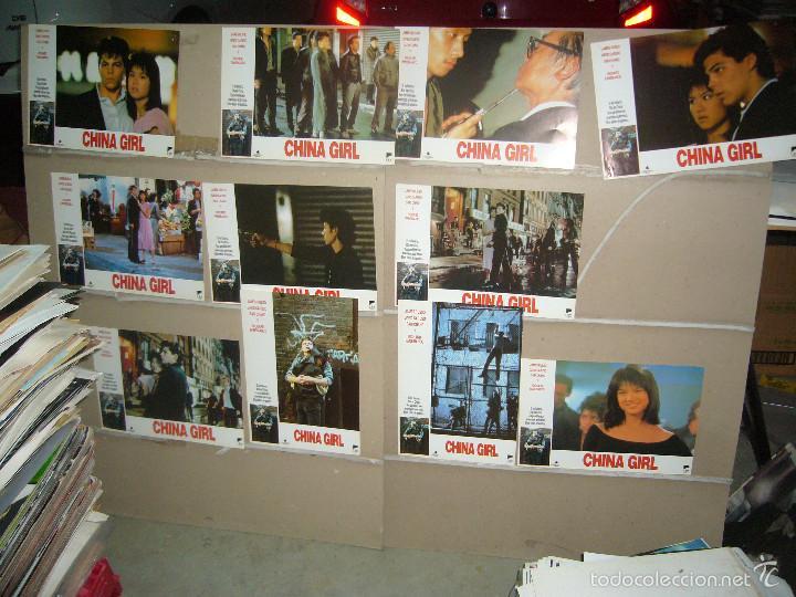 CHINA GIRL 11 FOTOCROMOS ORIGINALES B(930) (Cine - Fotos, Fotocromos y Postales de Películas)