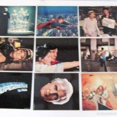 Cinema: SUPERMAN EL FILM, 1978, WARNER ESPAÑOLA, 9 FOTOCROMOS ORIGINALES 28 X 35,5 CMS.. Lote 58131238