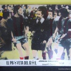 Cine: EL PROFETA DEL GOL JOHAN CRUYFF STORY FUTBOL FOTOCROMO ORIGINAL EN CARTON DURO COLOREADO. Lote 58160444