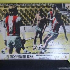 Cine: EL PROFETA DEL GOL JOHAN CRUYFF STORY FUTBOL FOTOCROMO ORIGINAL EN CARTON DURO COLOREADO. Lote 58160463