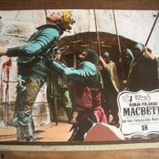 Cine: CARTELERA DE CARTÓN DURO COLOREADA A MANO DE MACBETH DE ROMAN POLANSKI. Lote 58212180