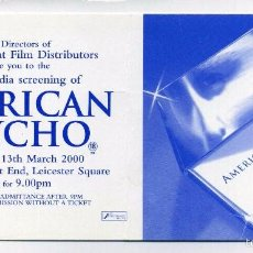 Cine: AMERICAN PSYCHO, CON CHRISTIAN BALE,WILLEM DAFOE. Lote 176236654