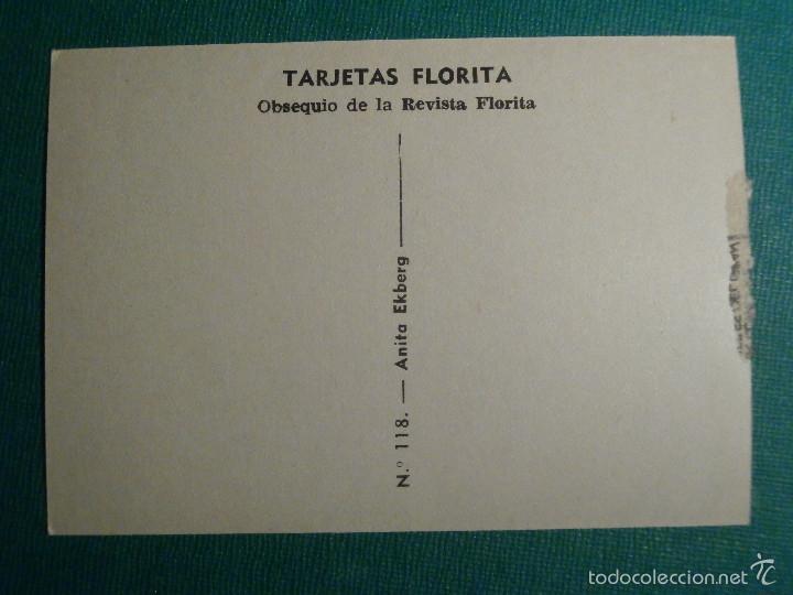 Cine: TARJETAS FLORITA - ISABELLE COREX - Nº 137 - - Foto 2 - 58416034