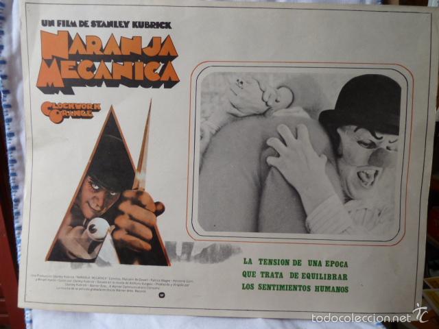 NARANJA MECANICA LOBBI CARD MEJICANO (Cine - Fotos, Fotocromos y Postales de Películas)