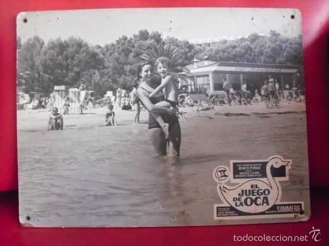 EL JUEGO DE LA OCA. FOTOCROMO CARTÓN. MARÍA MASSIP. MANUEL SUMMERS, 1966. (Cine - Fotos, Fotocromos y Postales de Películas)