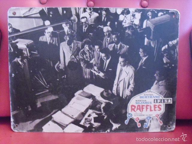 RAFFLES. FOTOGRAMA CARTÓN. RAFAEL BELTRAND, MARTHA MIJARES. ALEJANDRO GALINDO. IFISA. (Cine - Fotos, Fotocromos y Postales de Películas)