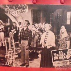 Cine: LA TERCERA PALABRA. FOTOCROMO CARTÓN. MARGA LÓPEZ,PEDRO INFANTE,SARA GARCIA,PRUDENC... SOLER, 1956.. Lote 59671835