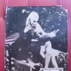 Cine: EVA EN LA SELVA. FOTOCROMO CARTÓN. CELESTE YARNALL. JEREMY SUMMERS,1968.. Lote 59672127