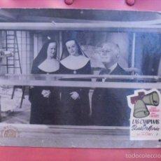 Cine: LAS CAMPANAS DE SANTA MARÍA. FOTOCROMO CARTÓN. INGRID BERGMAN, BING CROSBY. LEO MC CAREY, 1945. . Lote 59787508