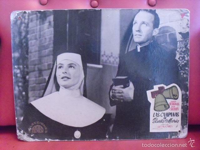 LAS CAMPANAS DE SANTA MARÍA. FOTOCROMO CARTÓN. INGRID BERGMAN, BING CROSBY. LEO MC CAREY, 1945. (Cine - Fotos, Fotocromos y Postales de Películas)