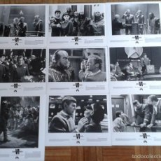 Cine: STAR TREK VI. 9 FOTOS. WILLIAM SHATNER, LEONARD NIMOY, CHRISTOPHER PLUMMER. Lote 59815624
