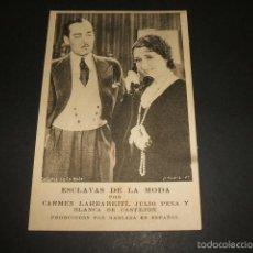Cine: ESCLAVAS DE LA MODA POSTAL PELICULA 1931. Lote 59955131