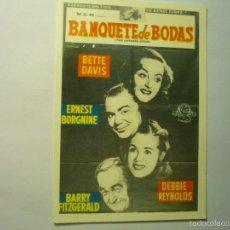 Cinéma: POSTAL BANQUETE DE BODAS - BETTE DAVIS. Lote 60012783