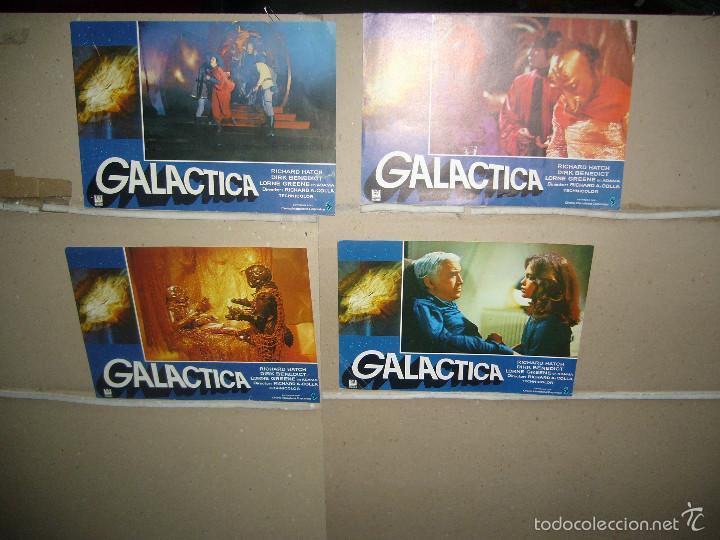 GALACTICA 4 FOTOCROMOS ORIGINALES Q (Cine - Fotos, Fotocromos y Postales de Películas)