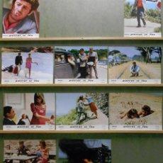 Cine: QT48 PIERROT LE FOU JEAN PAUL BELMONDO JEAN LUC GODARD SET COMPLETO 10 FOTOCROMOS ORIGINAL ESPAÑOL. Lote 213640783