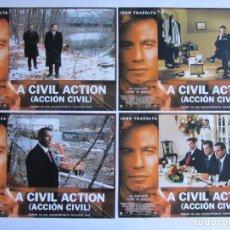 Cine: A CIVIL ACTION (ACCIÓN CIVIL). 12 FOTOCROMOS ORIGINALES DE LA PELICULA 34 X 24 CMS. NUEVOS. Lote 61406555